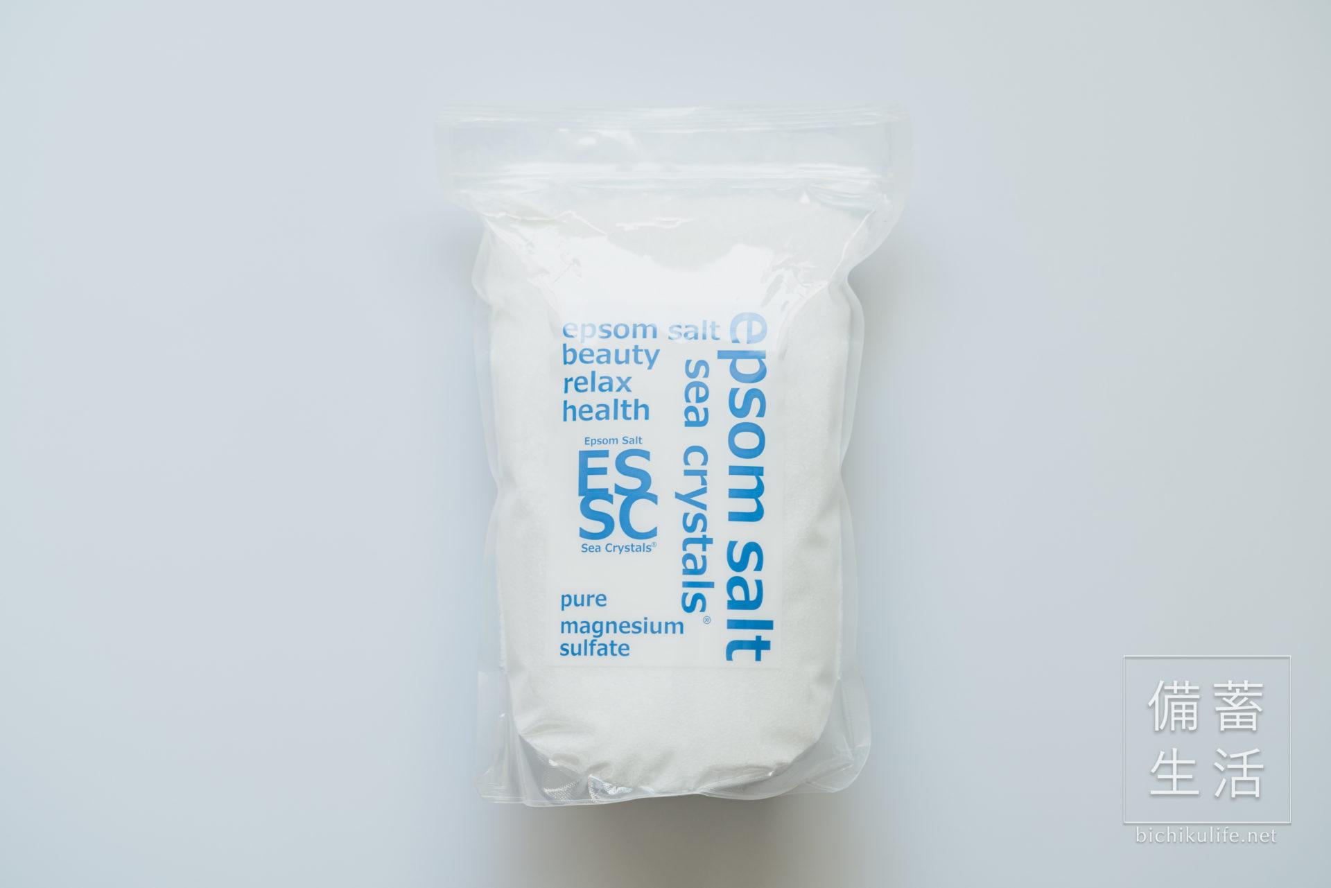 シークリスタルスのエプソムソルト、硫酸マグネシウム入浴剤