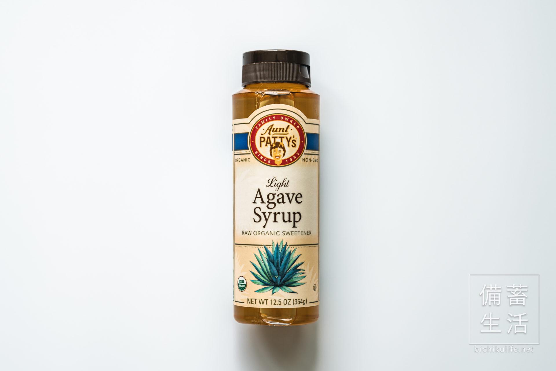有機アガベシロップ、Aunt Patty's Organic Light Agave Syrup、オーガニックブルーアガベシロップ