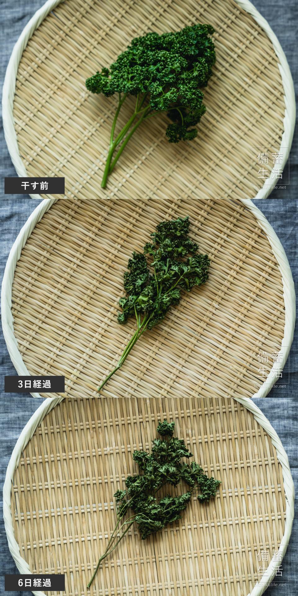 パセリ 干し野菜づくり|干しパセリの作り方