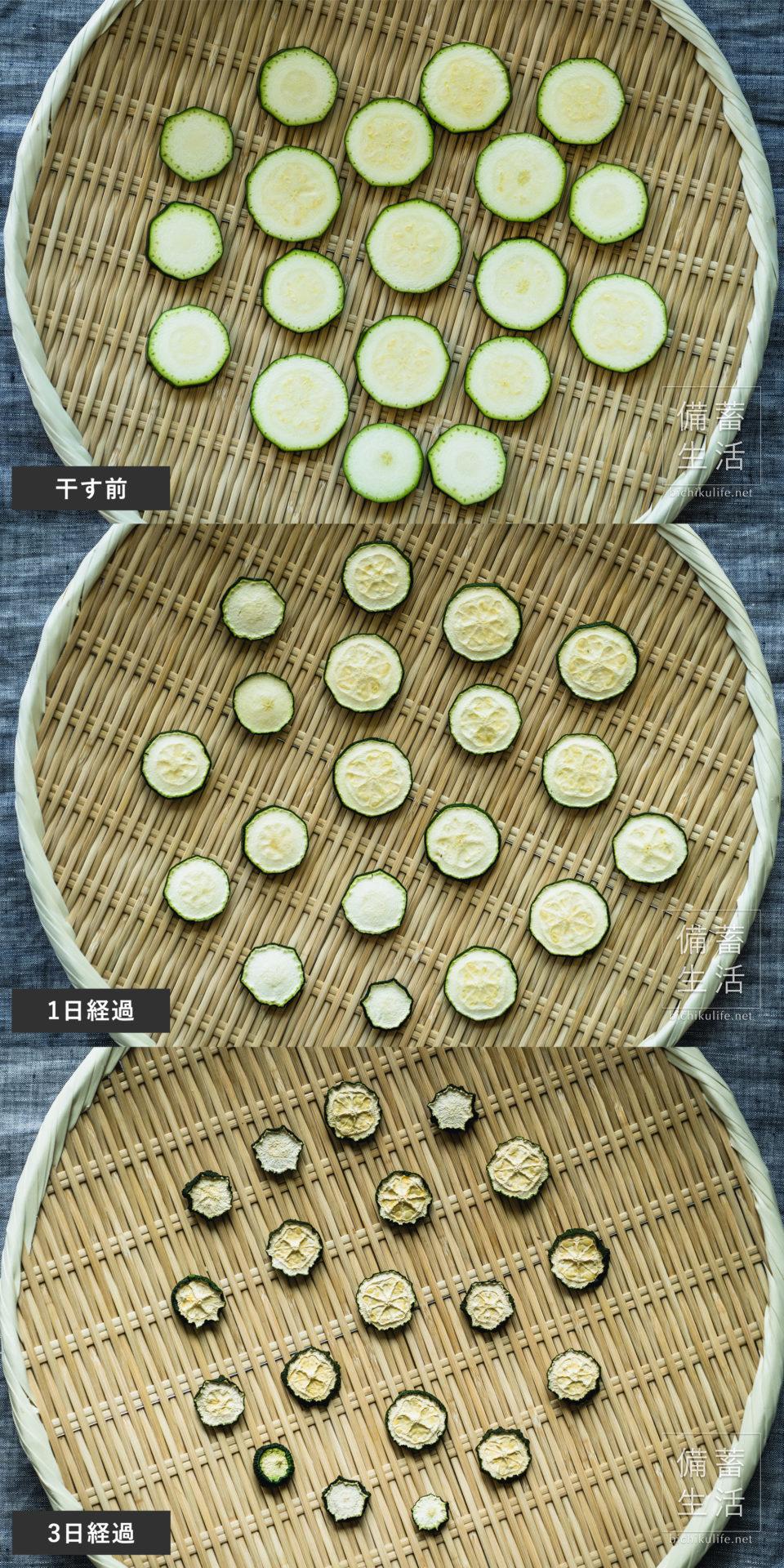 ズッキーニ 干し野菜づくり|干しズッキーニの作り方