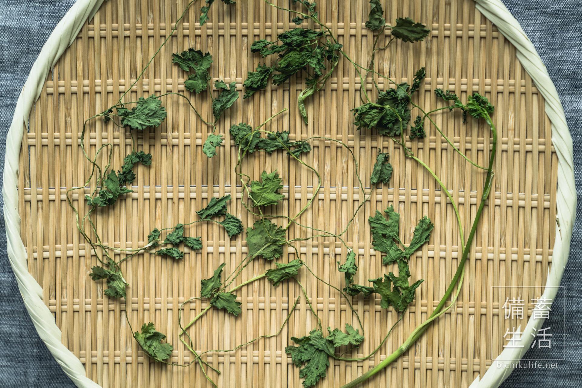 コリアンダー 干し野菜づくり|干しパクチーの作り方