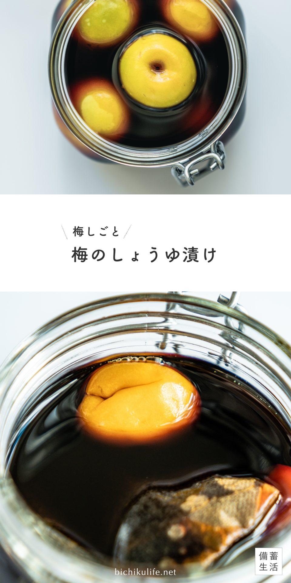 梅の醤油漬けの作り方 レシピ