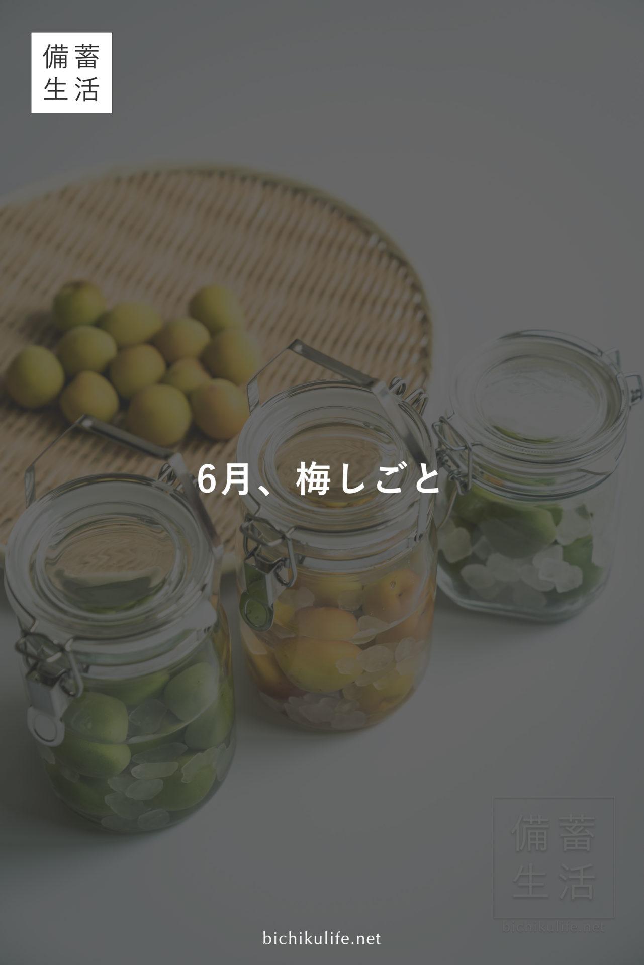 梅しごと はじめました Japanese apricot