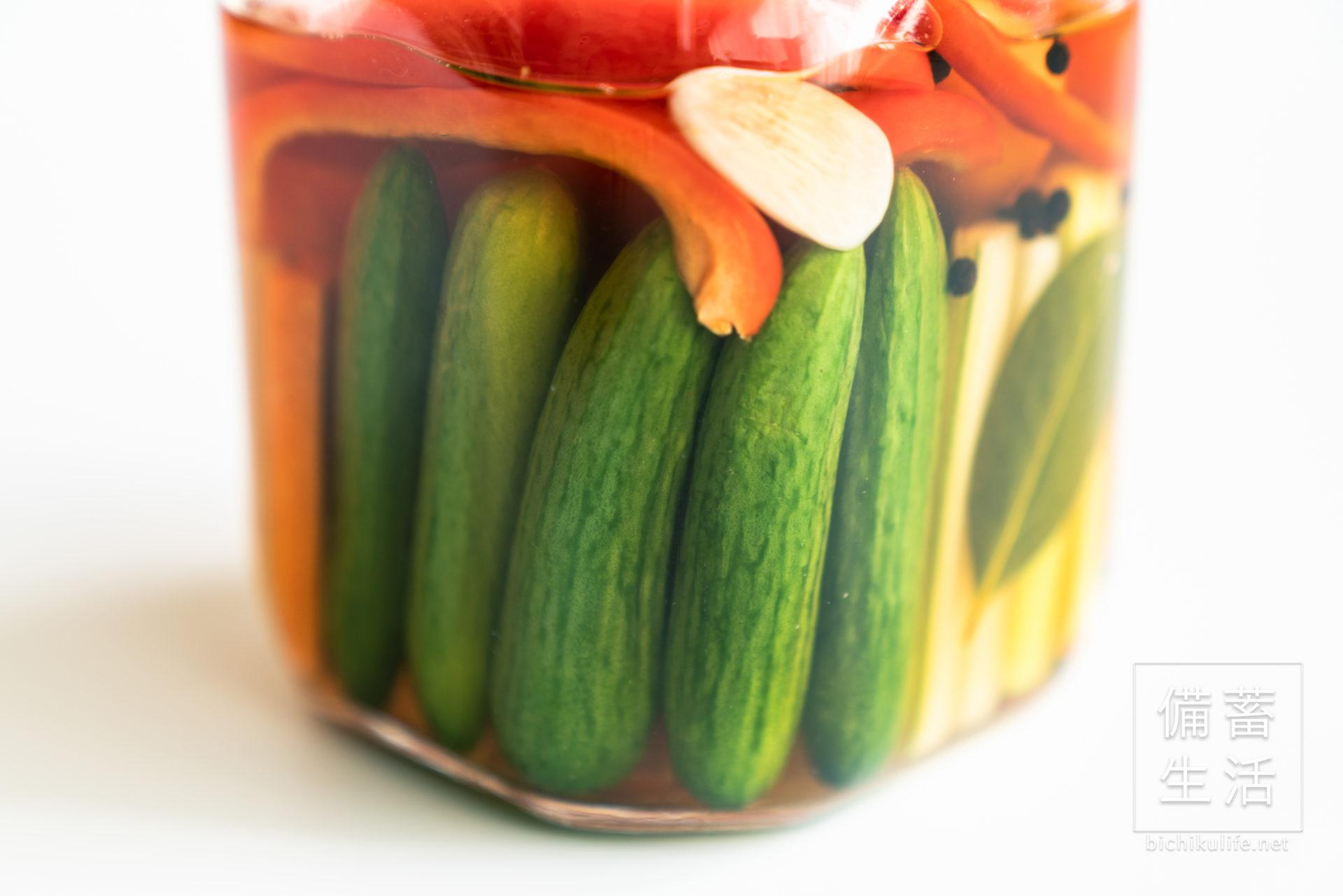 自家製ピクルスのレシピ、具材のミニきゅうり