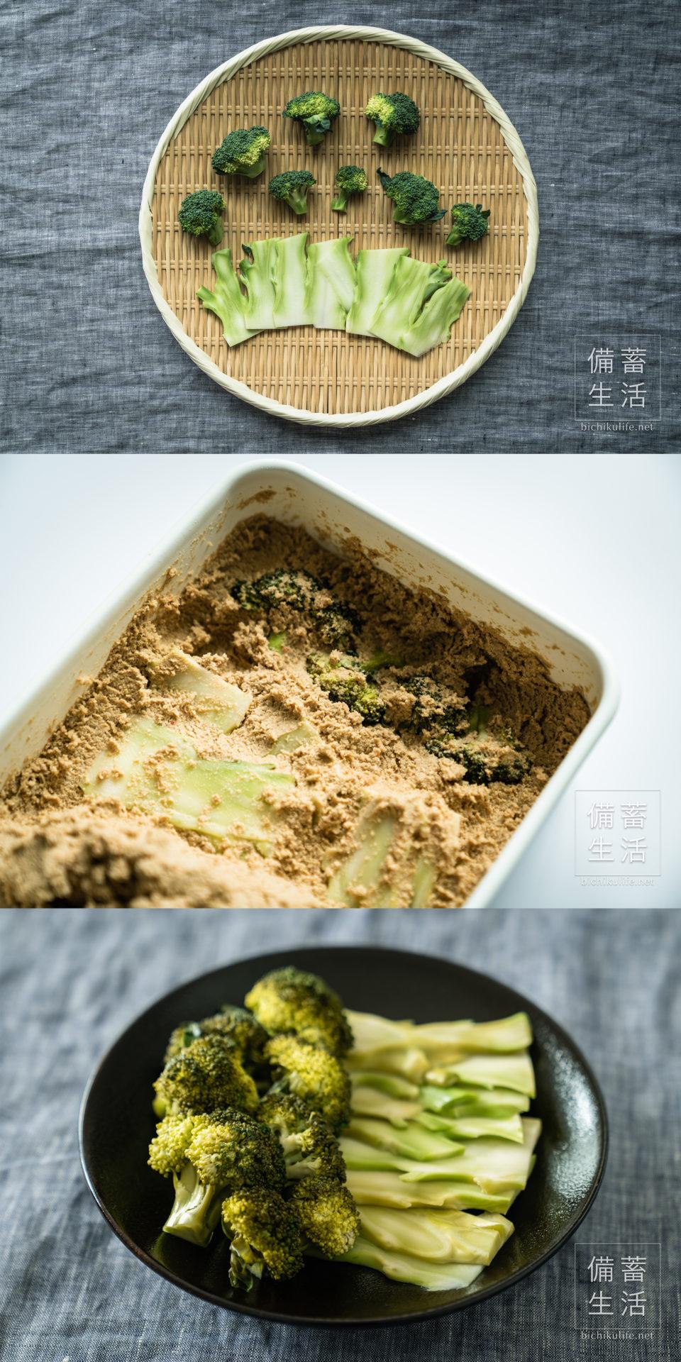 ブロッコリーのぬか漬けの作り方・レシピ