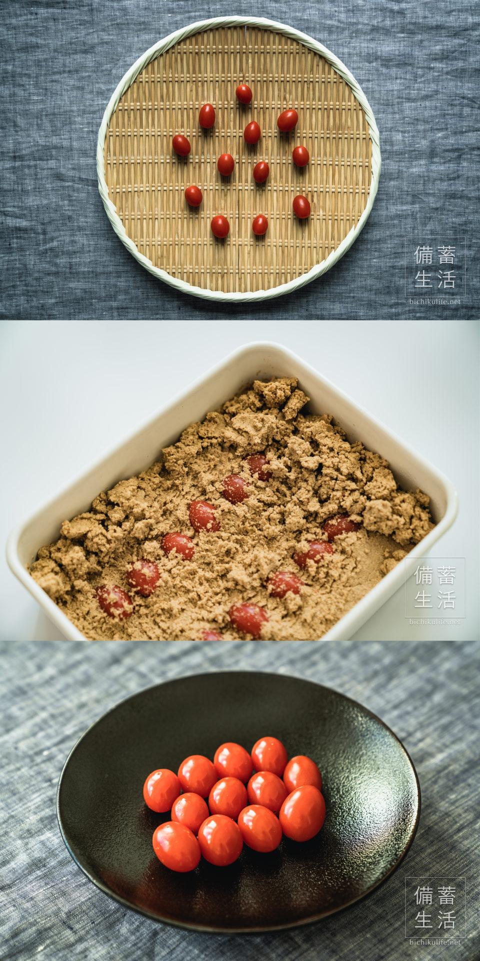 ミニトマトのぬか漬けの作り方・レシピ