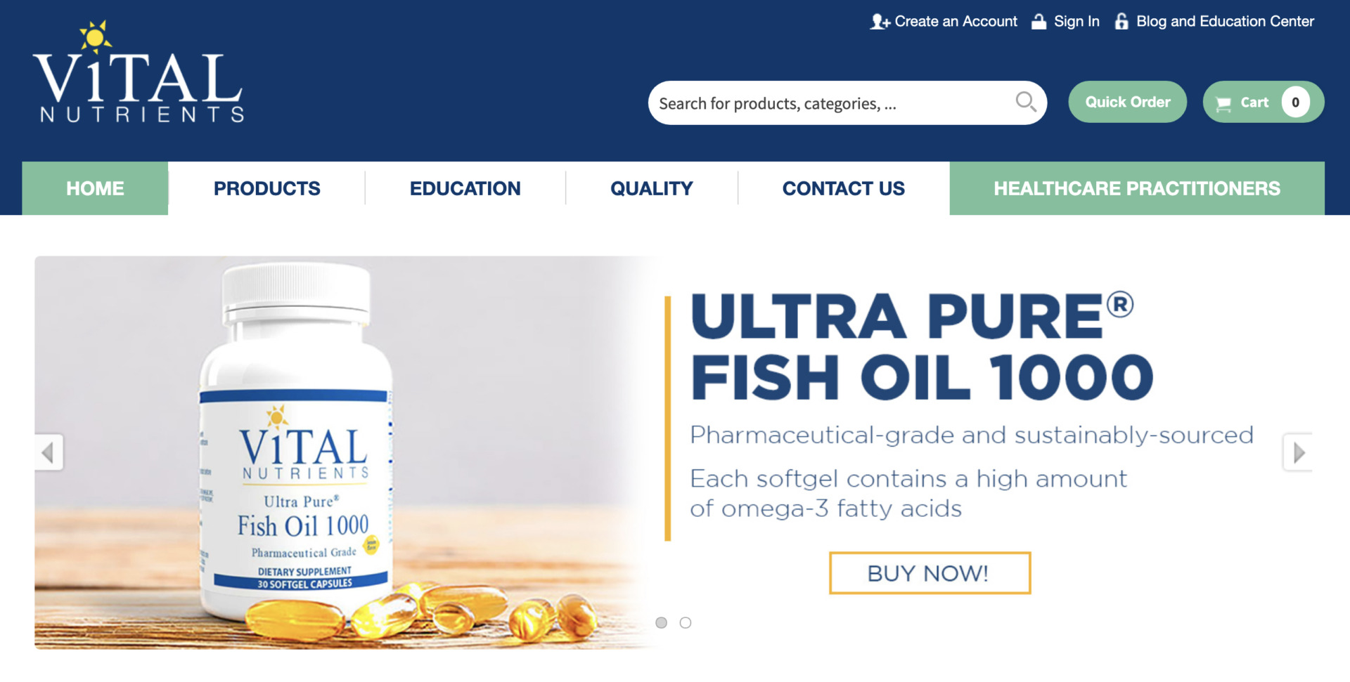 Vital Nutrients社の公式通販サイトで個人輸入する