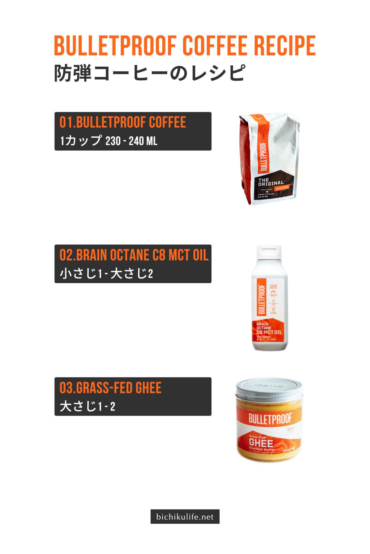 Bulletproof 完全無欠コーヒー(防弾コーヒー、バターコーヒー)のレシピ