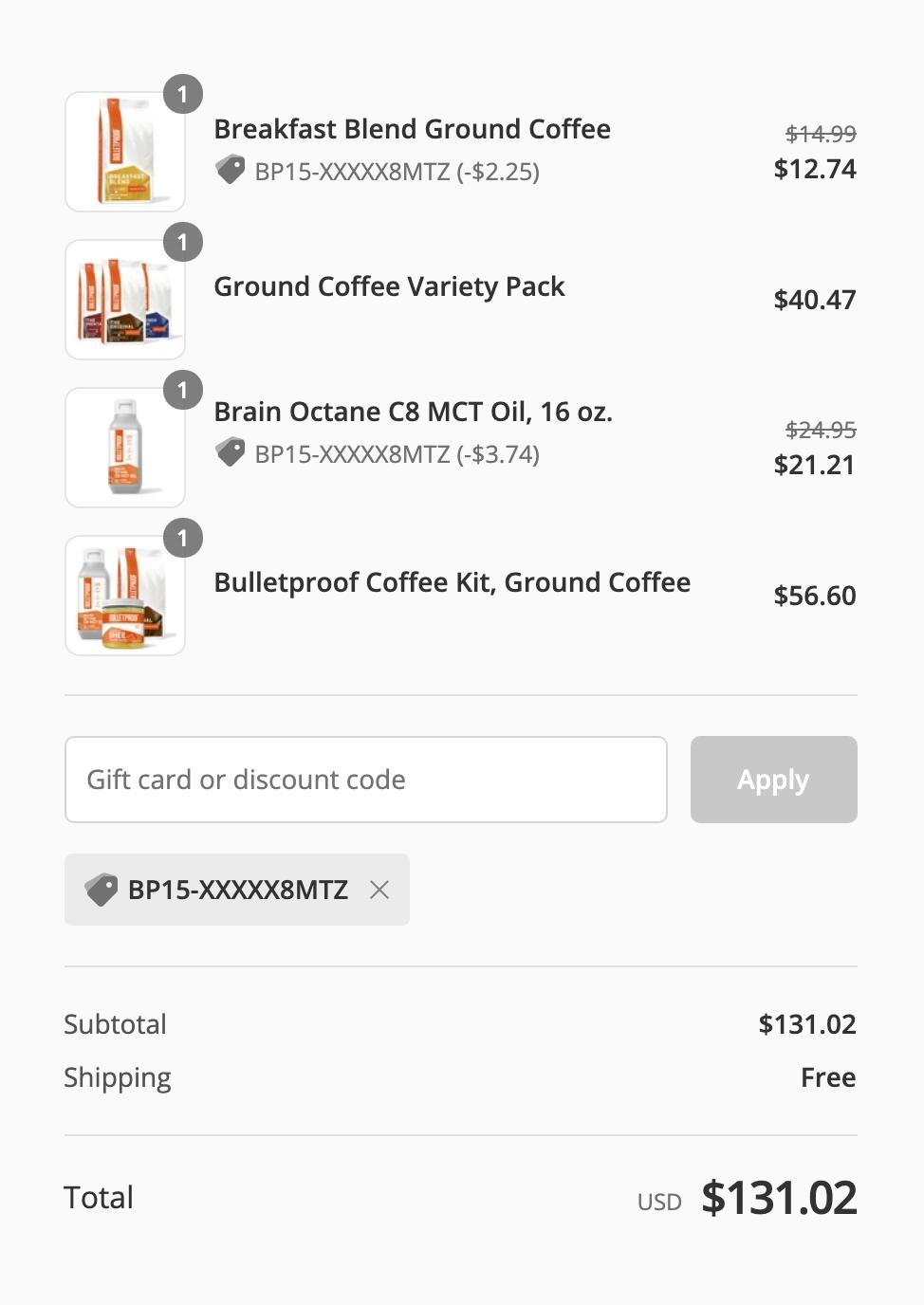 Bulletproof社の公式サイトでMCTオイル・コーヒーを個人輸入する方法・買い方