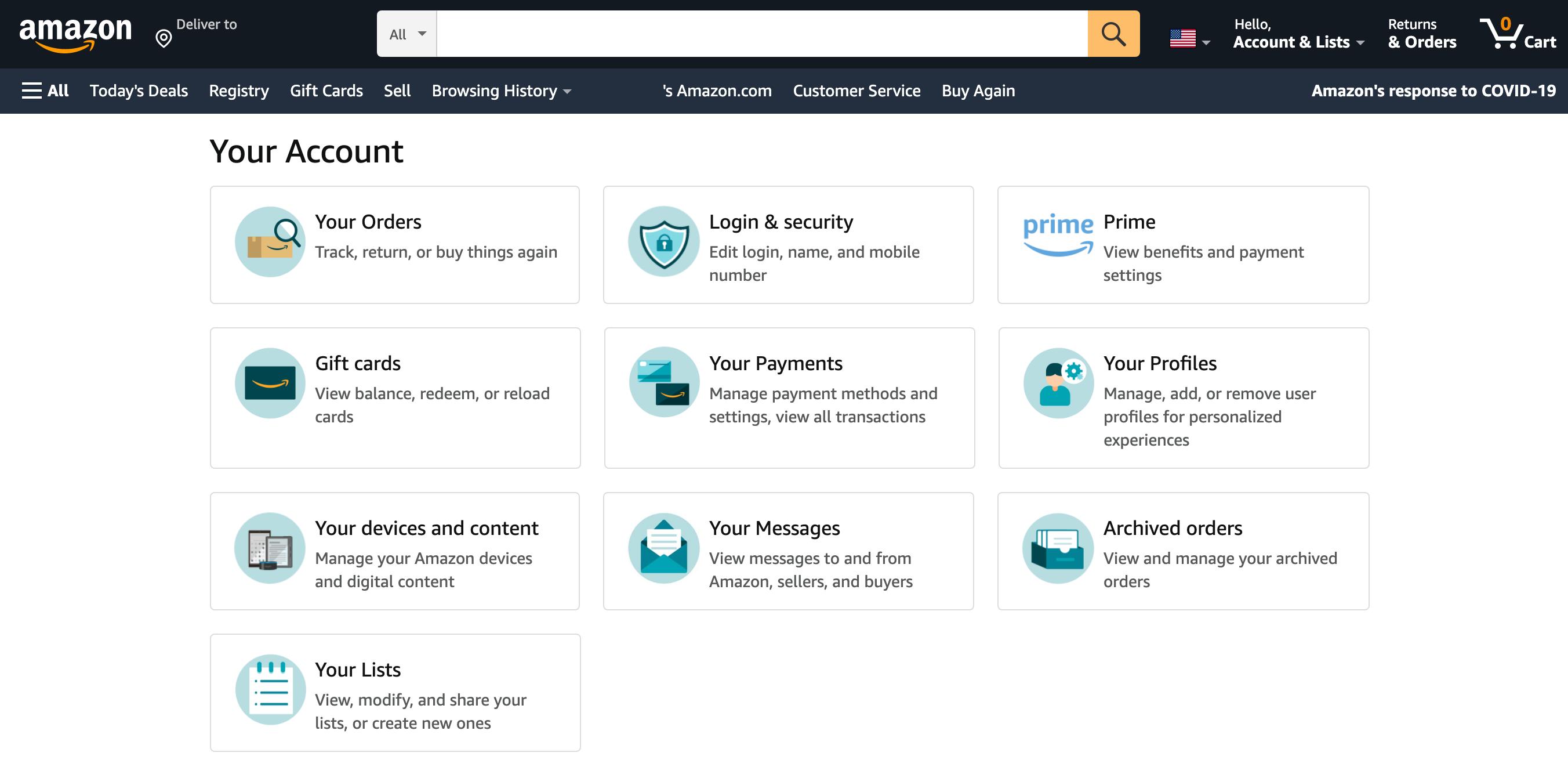 Amazon.com(アメリカ)の購入方法・個人輸入する方法 お支払い方法(クレジットカード)の登録