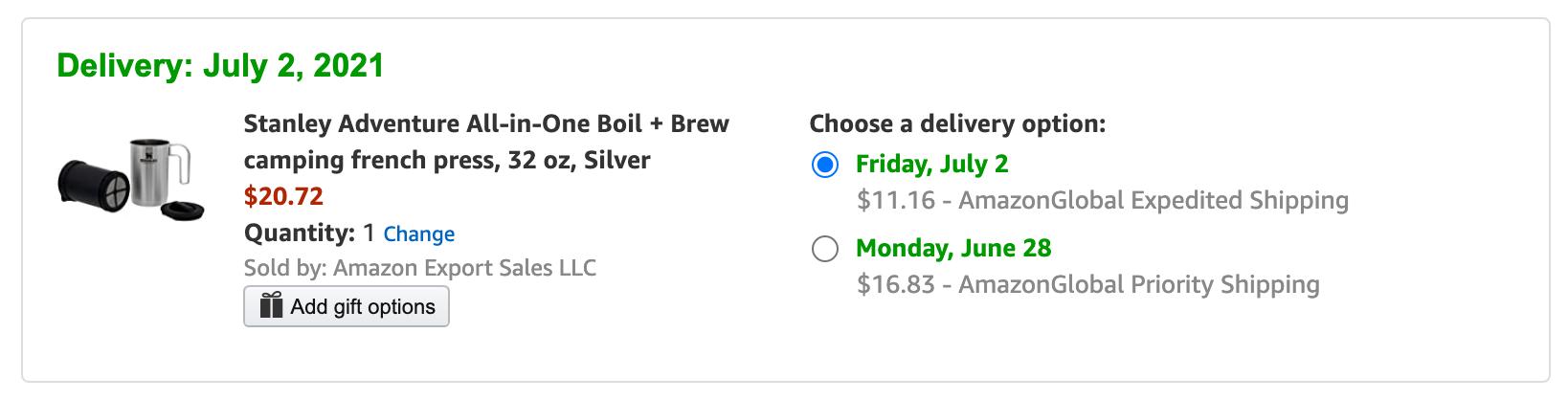 Amazon.com(アメリカ)の購入方法・個人輸入する方法 購入手続き
