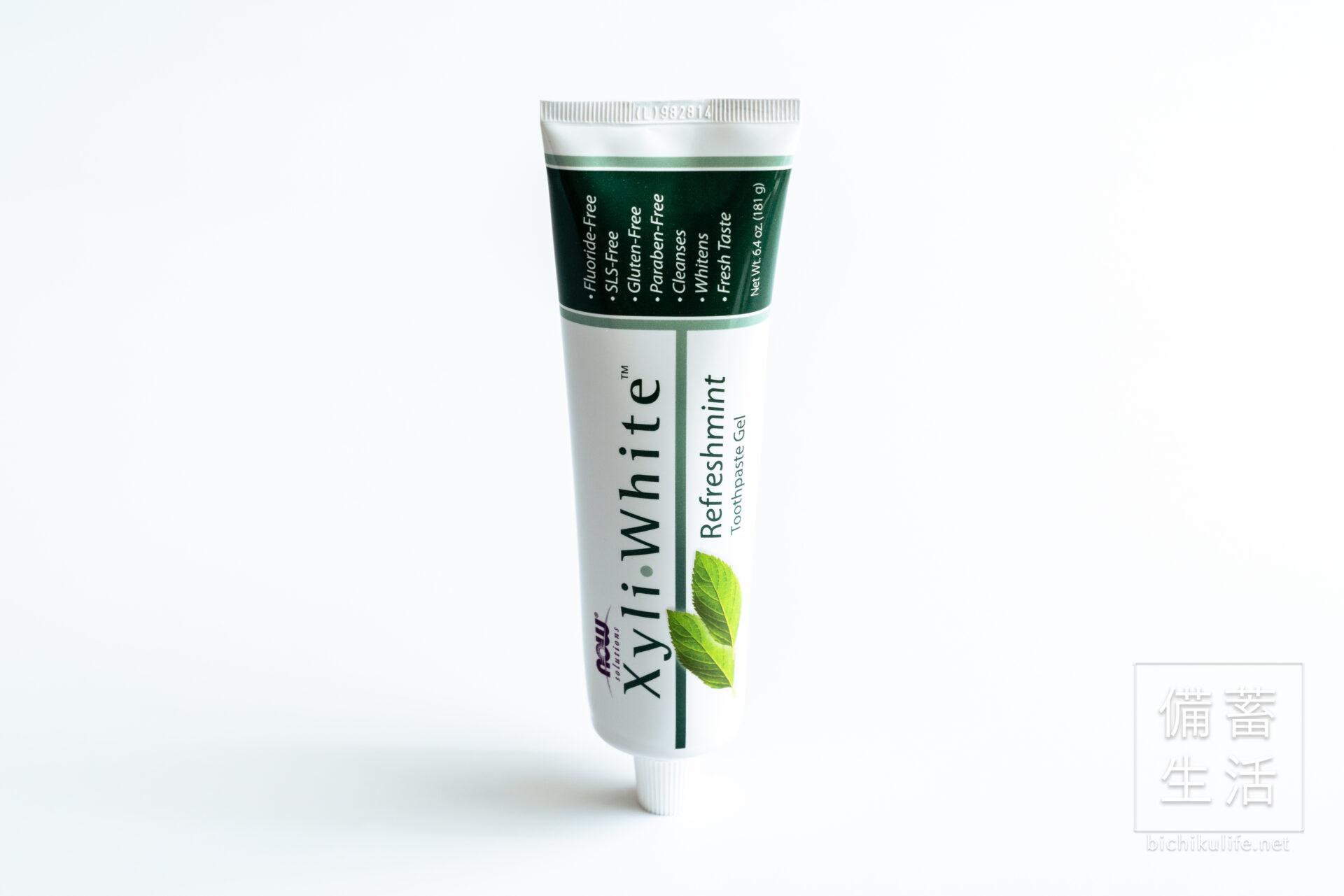 Now Foods キシリトール 歯磨き粉(フッ素なし)リフレッシュミント