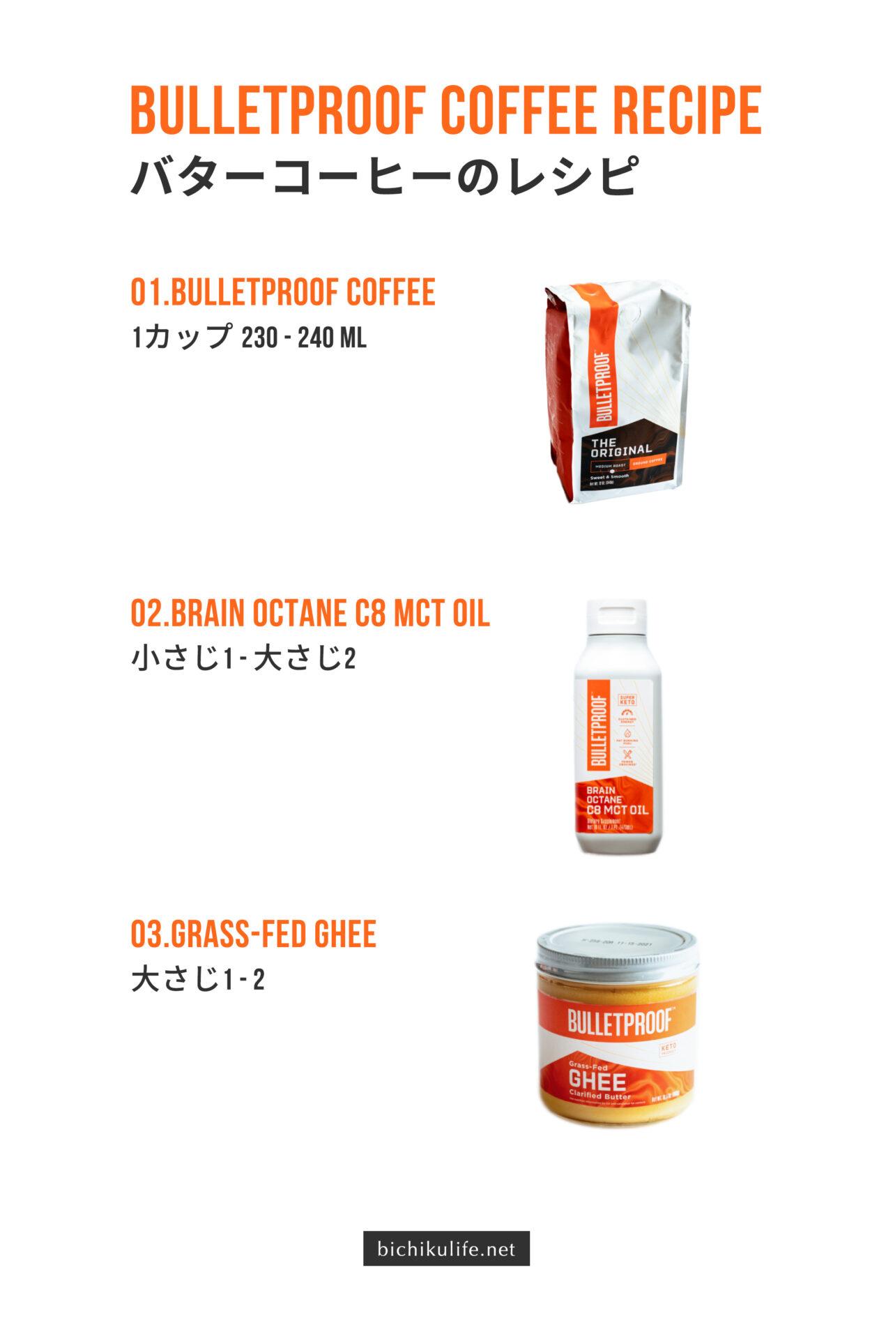 バターコーヒーの作り方・レシピ