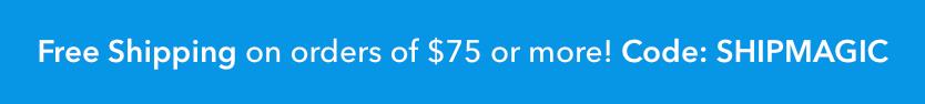 割引クーポンコード「SHIPMAGIC」でアメリカ国内配送料が無料