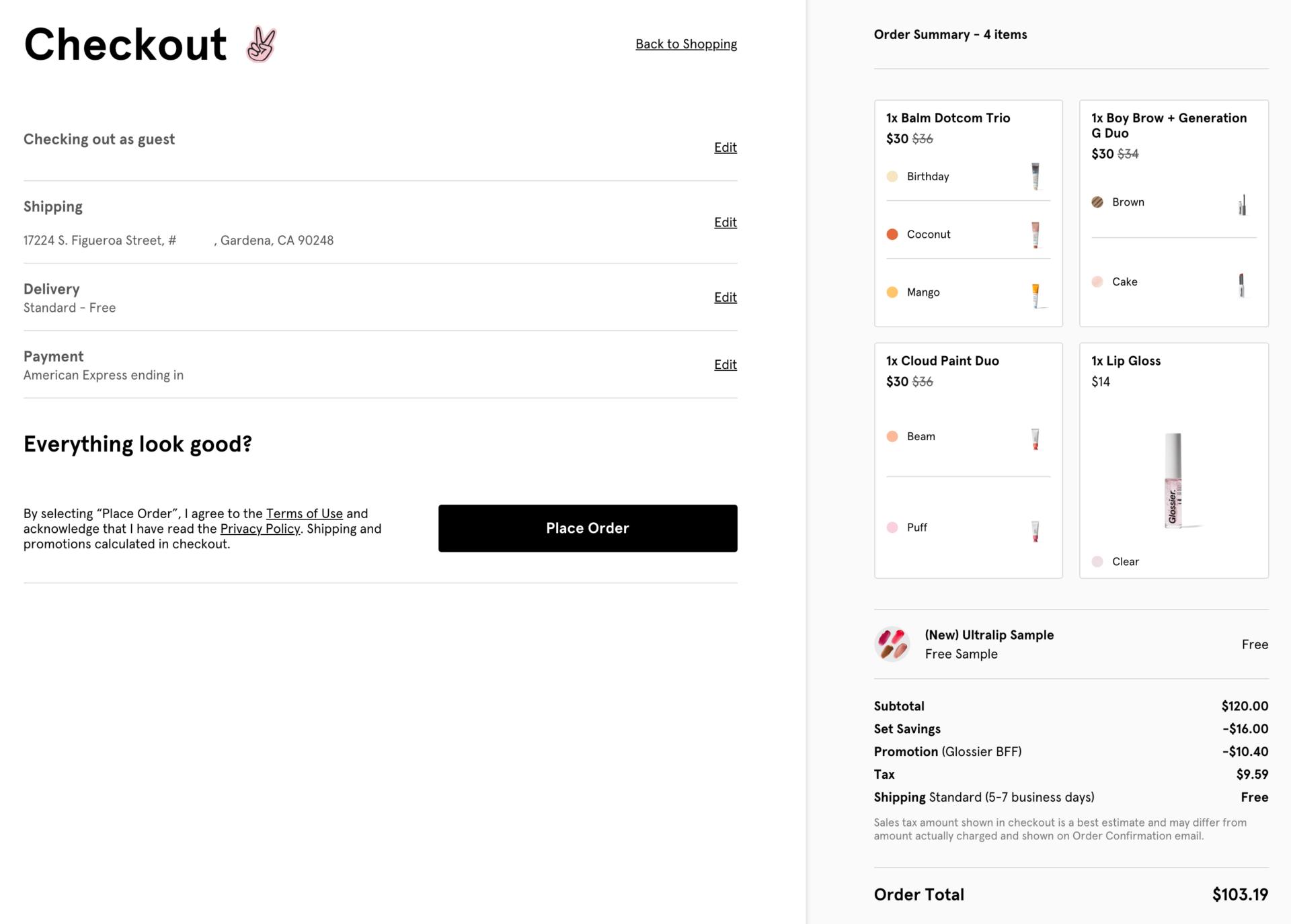 Glossierのアメリカ公式通販サイトで購入する方法