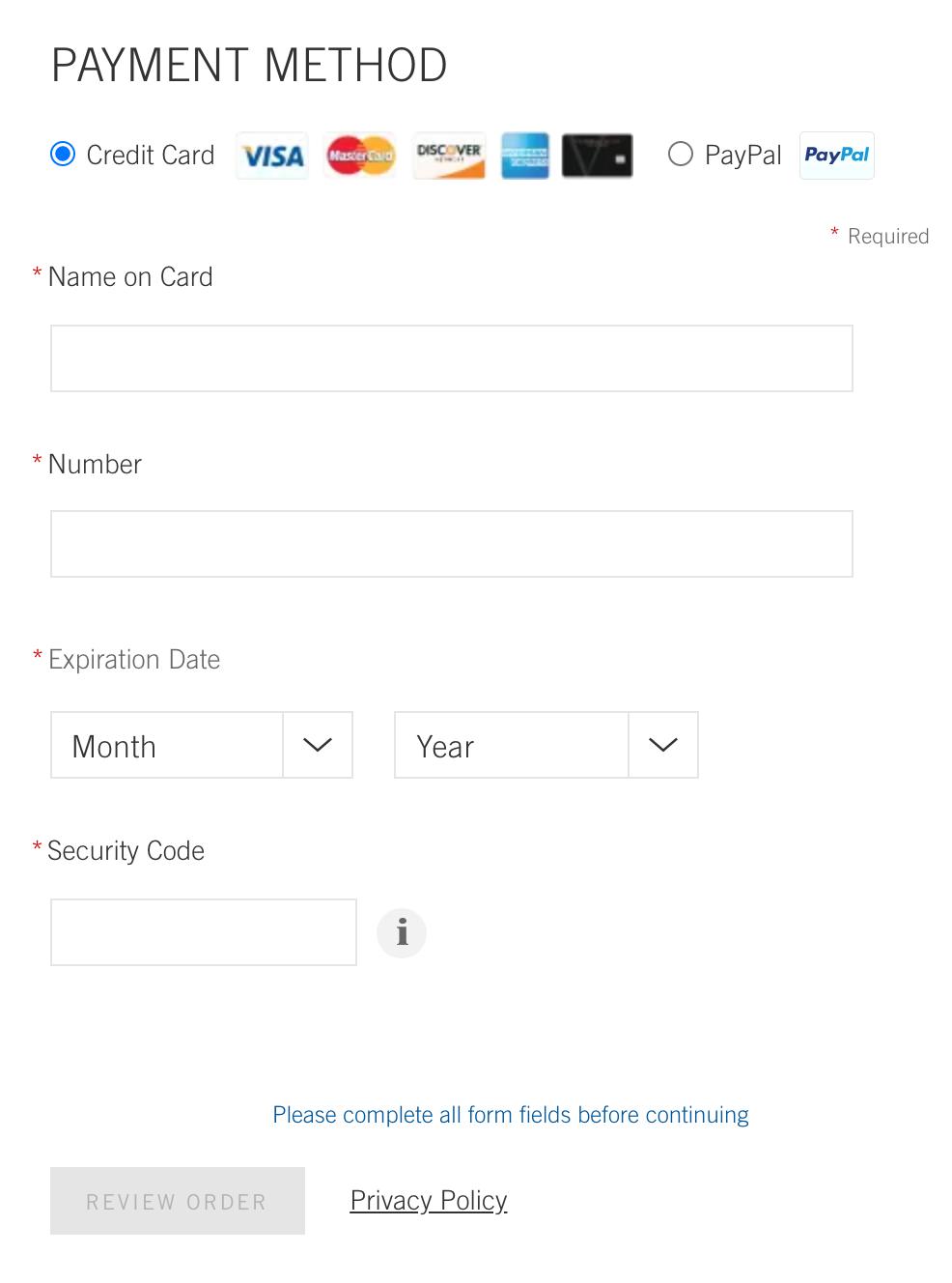 バスアンドボディワークスの公式通販サイト 支払方法